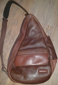 L.L. Bean Leather Sling Back Pack